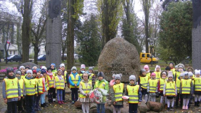 Przedszkolaki podczas uroczystości