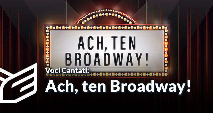 foto: Plakat informacyjny - wydarzenie fejs ach ten broadway