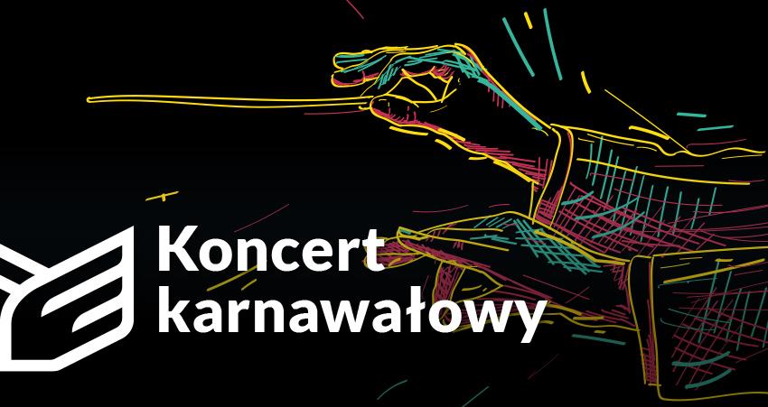 foto: Plakat informacyjny - wydarzenie fejs koncert karnawalowy