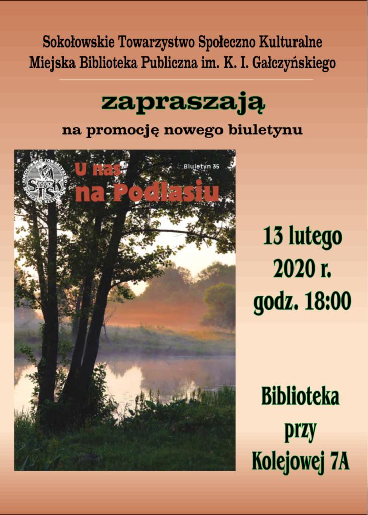 """foto: Promocja nowego biuletynu """"U nas na Podlasiu"""" - Plakat biuletynSTK zmniejszony1 731x1024"""