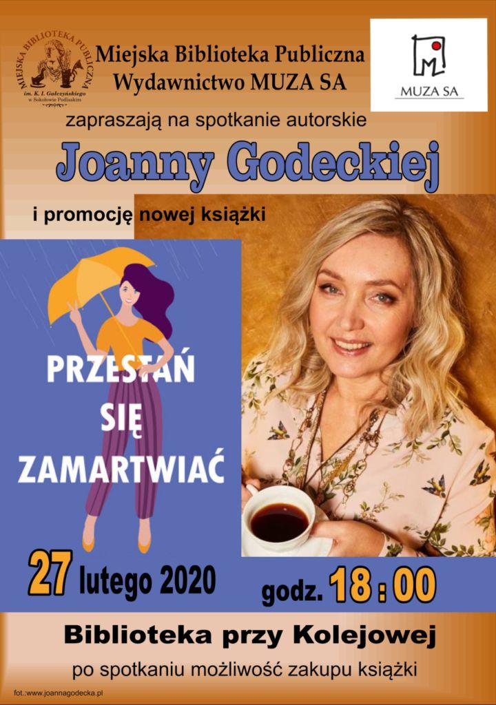 foto: Spotkanie autorskie z Joanną Godecką w MBP - Godecka plakat 3k 720x1024