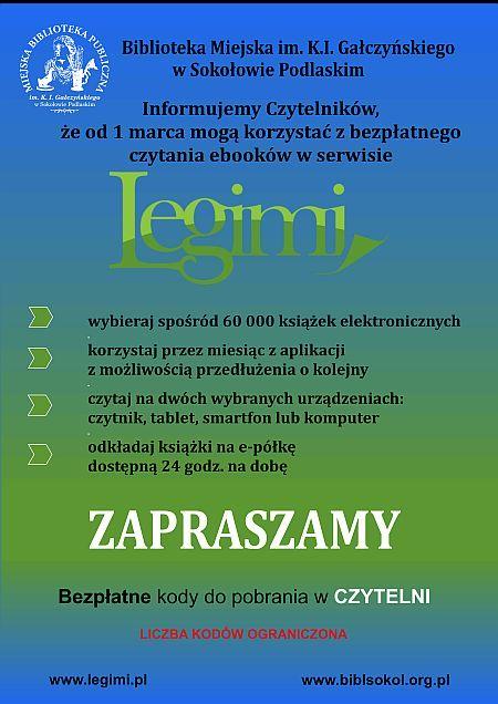 foto: Plakat informacyjny - Legimi plakat