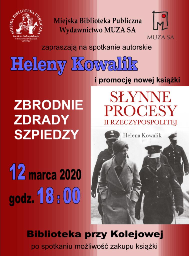foto: Spotkanie autorskie Heleny Kowalik i promocja nowej książki w MBP - PLAKAT2 Procesy inform 757x1024