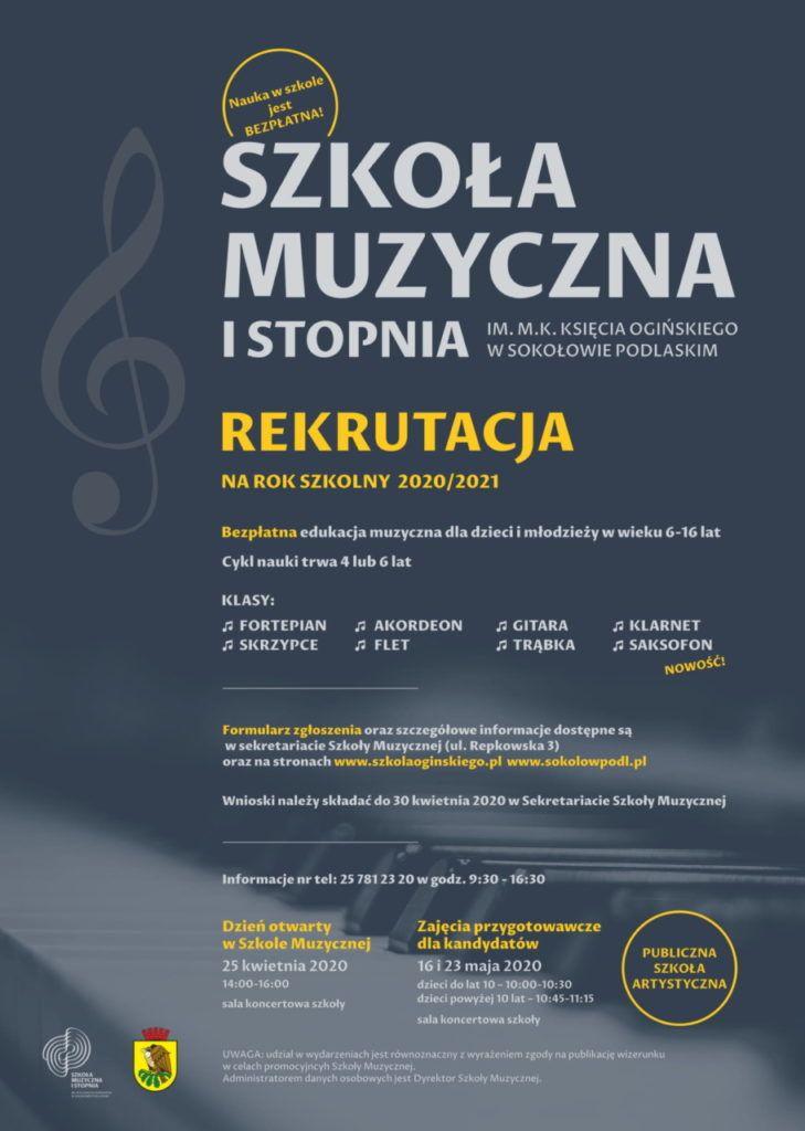 Rekrutacja do Szkoły Muzycznej I stopnia