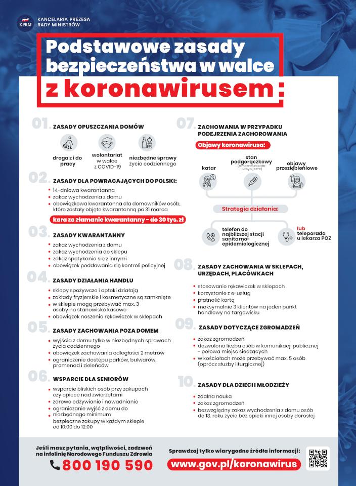 foto: Zasady bezpieczeństwa - plakat maly z logo kprm