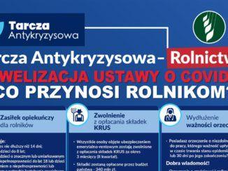Plakat informacyjny - tarcza antykryzysowa