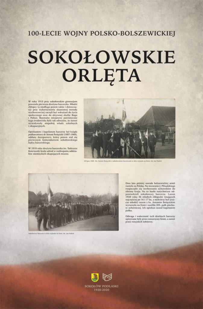 """foto: Wystawa """"Sokołowskie Orlęta"""" - plansza1 674x1024"""