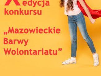 "Plakat ""Mazowiecke barwy wolontariatu"""