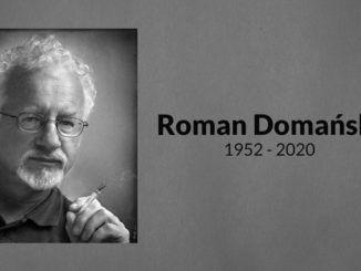 zdjęcie przedstawiające informację o śmierci Romana Domańskiego
