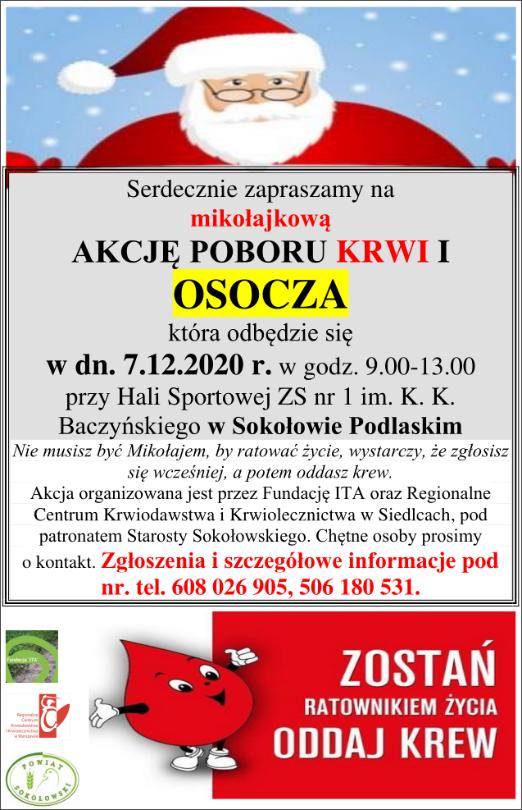 foto: Akcja poboru krwi i osocza - plakat - Swappshot Fri Dec 4 004746 2020