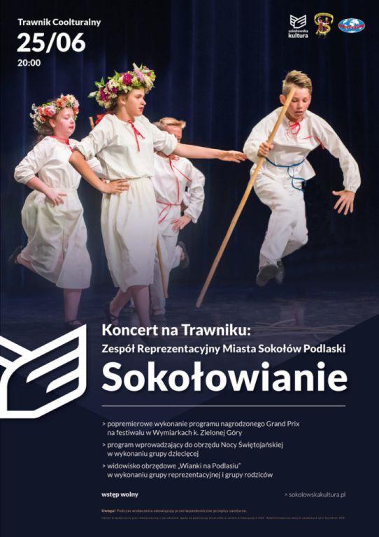 plakat wydarzenia Koncert na Trawniku Zespół Reprezentacyjny Miasta Sokołów Podlaski Sokołowianie