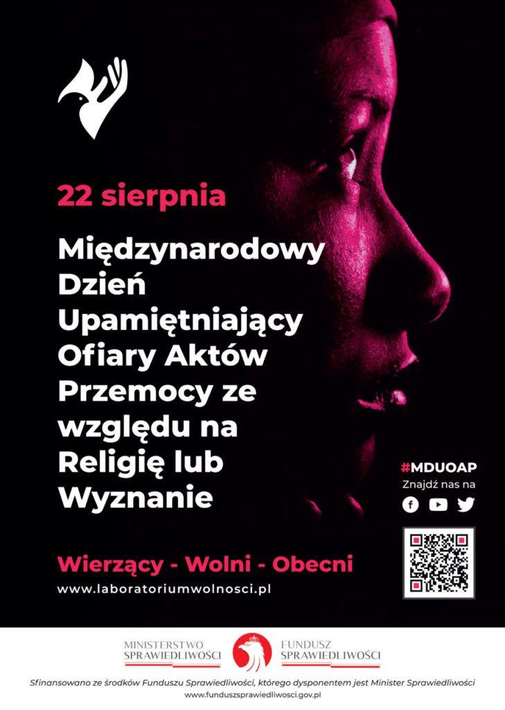 foto: Międzynarodowy Dzień Upamiętniający Ofiary Aktów Przemocy - 22 sierpnia  MDUOAP plakat 729x1024