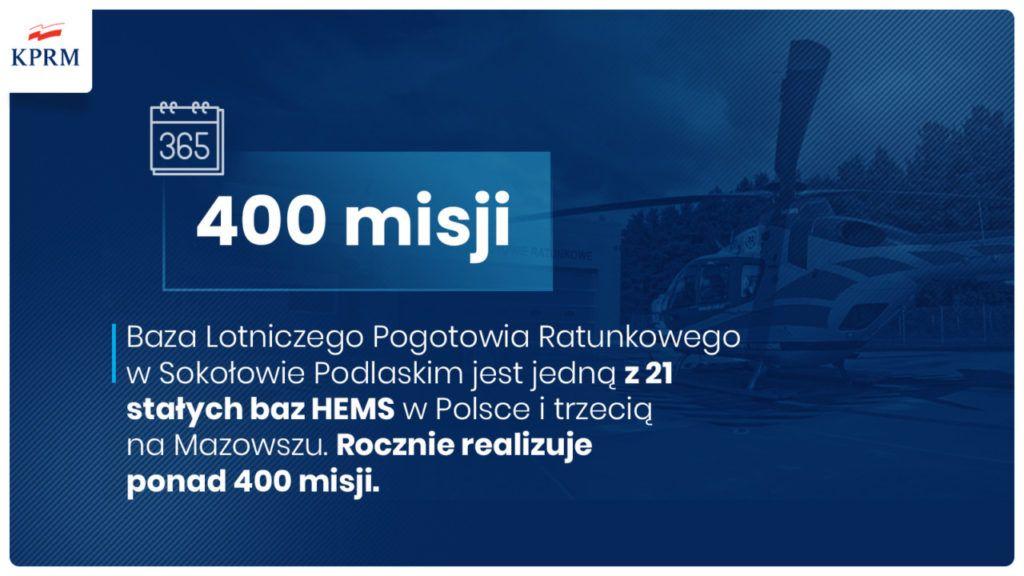 foto: Premier Mateusz Morawiecki odwiedził sokołowską bazę HEMS - E31fAiZWEAAqKFI 1024x576