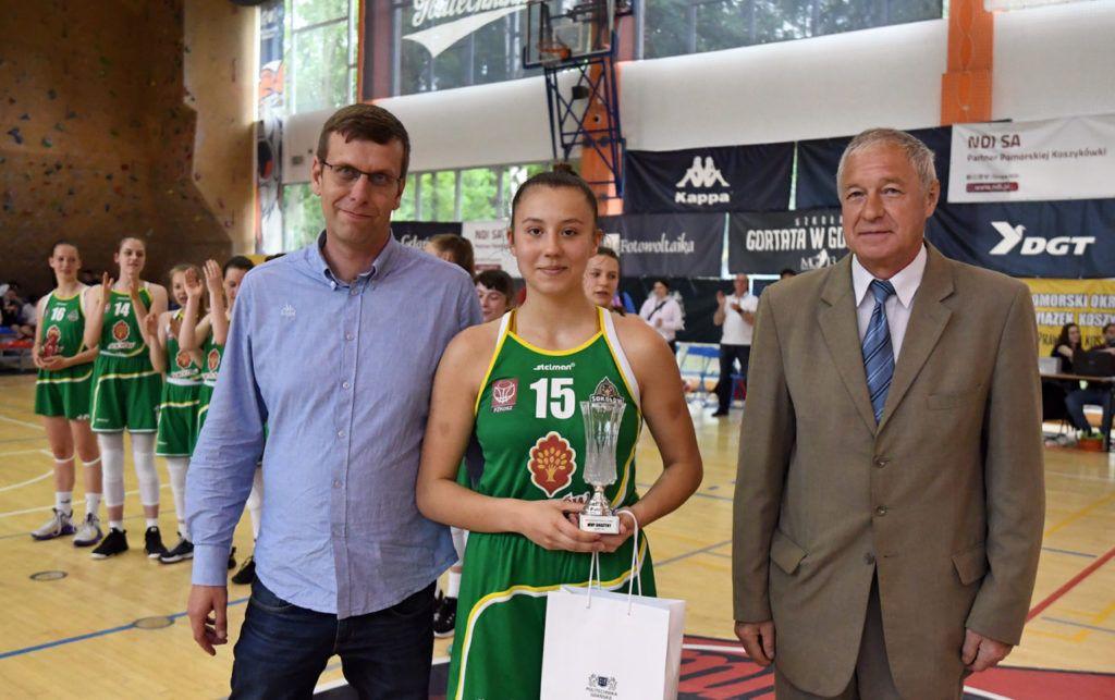 foto: 5 miejsce koszykarek U15 w Polsce 20/21 - MVP Mazurek D MP U15 final 20 21 1024x643