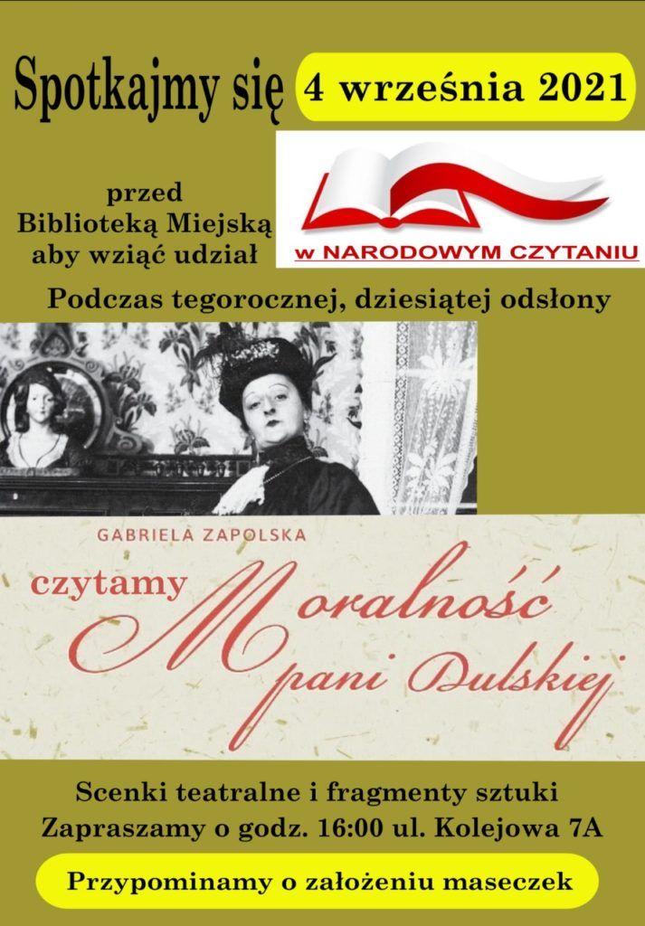 plakat na narodowe czytanie 4 września