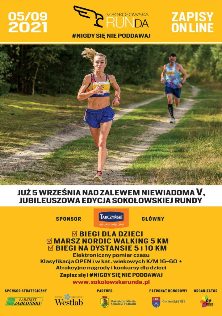 Plakat biegu V Sokołówska RUNda