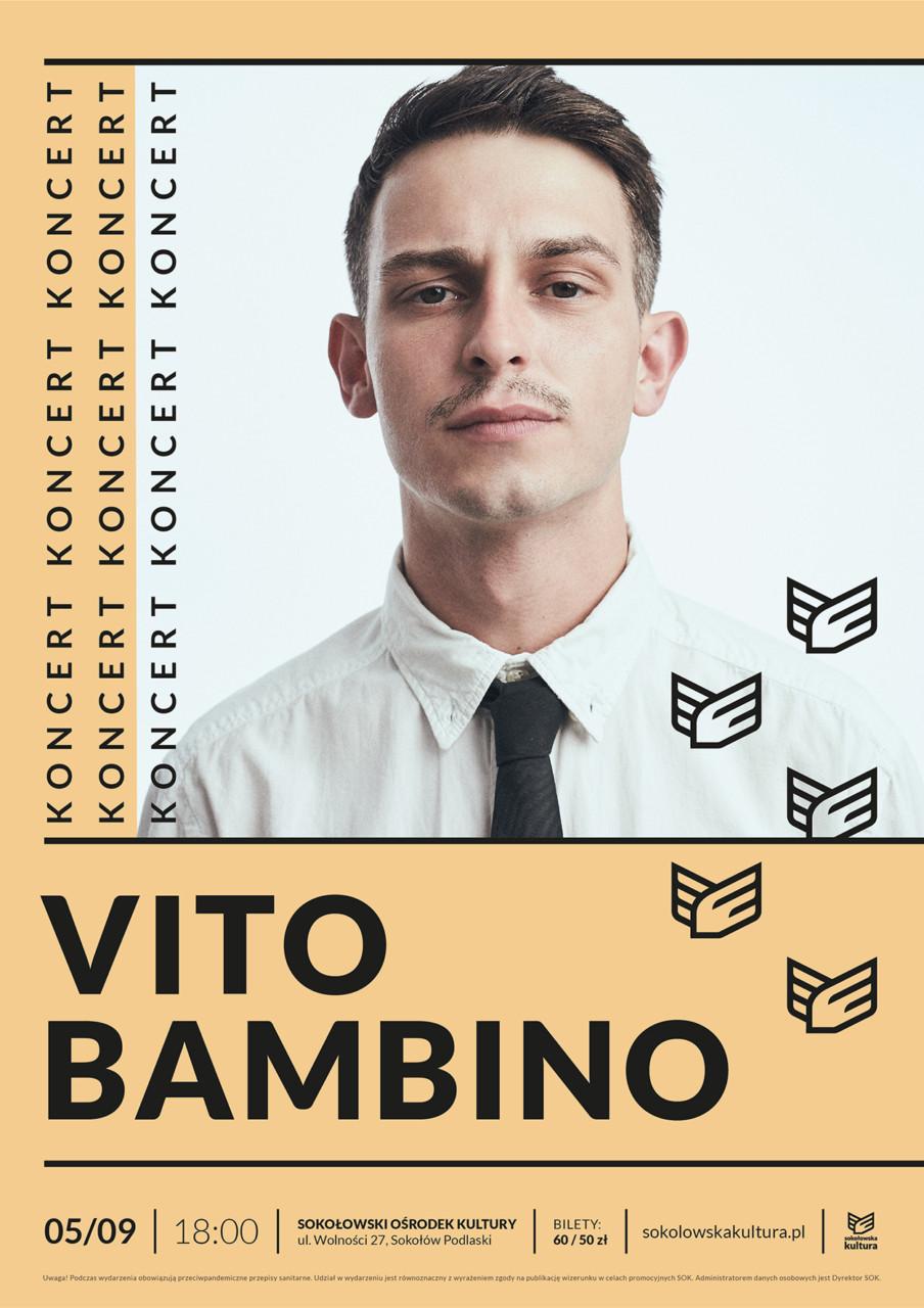 plakat zapowiadający koncert Vito Bambino