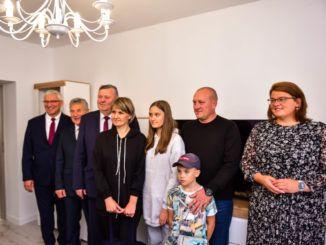 Przyjęcie rodziny repatriantów