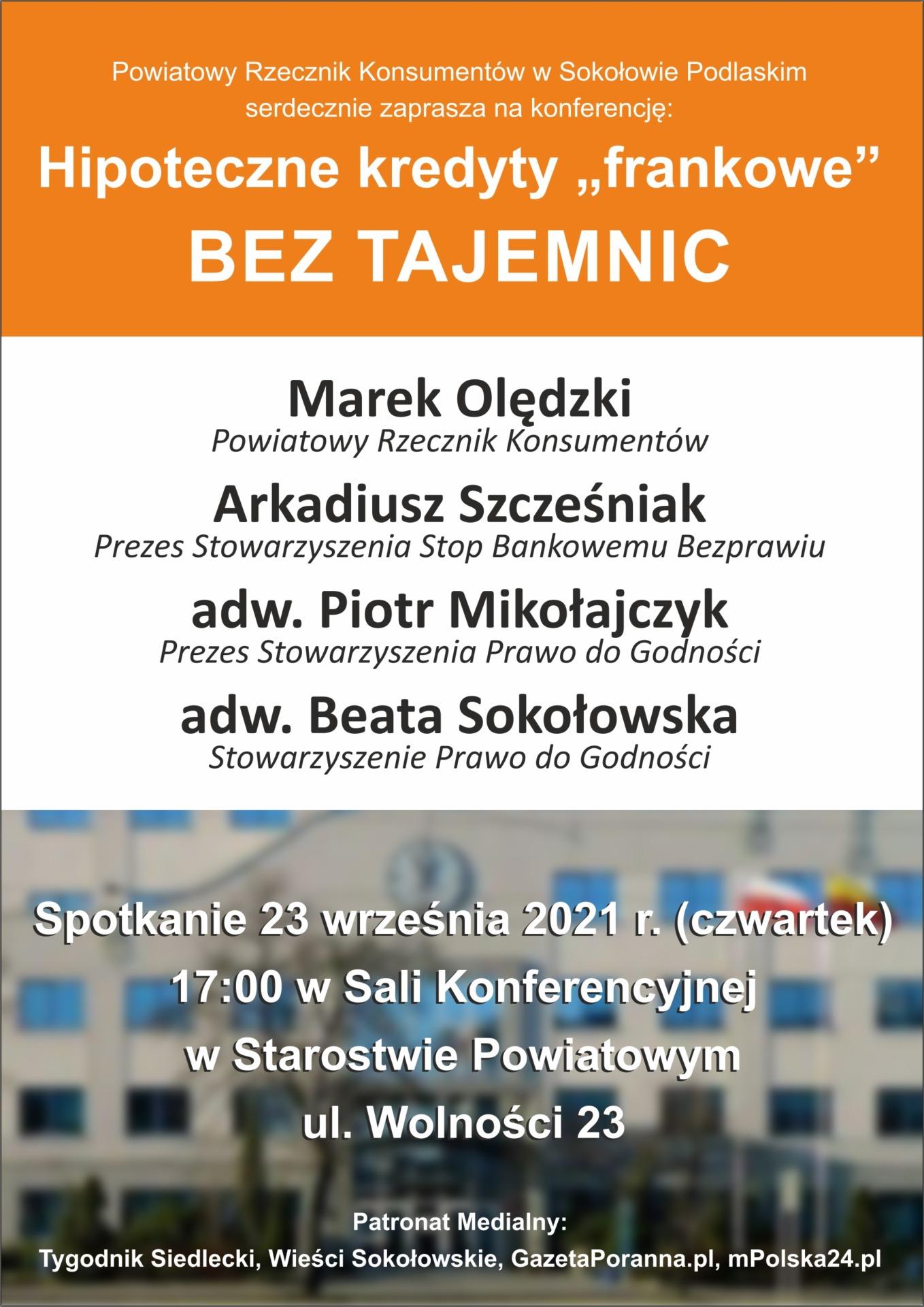 plakat z zaproszeniem na konferencję